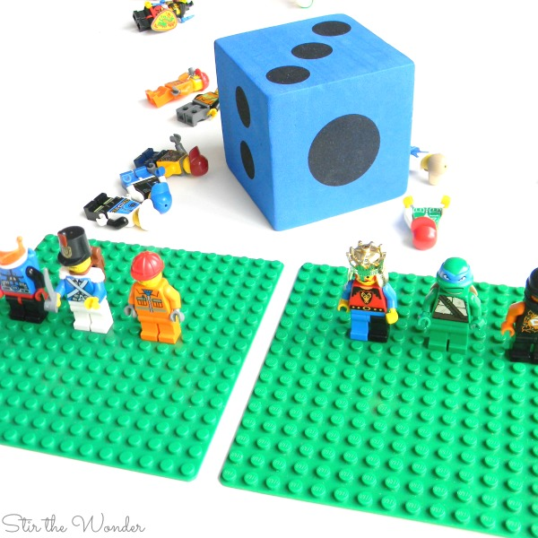LEGO more less or equal math game
