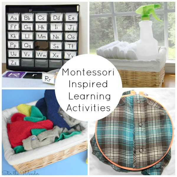 Montessori Inspired Learning Actitivies