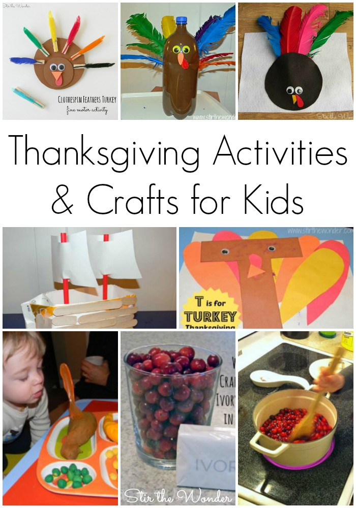 8 Thanksgiving Activities and crafts for preschoolers covering alphabet recognition, fine motor skills, math, history and science!