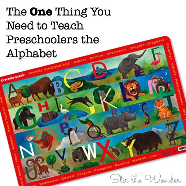 The One Thing You Need to Teach Preschoolers the Alphabet! You won't believe you didn't think of this sooner!