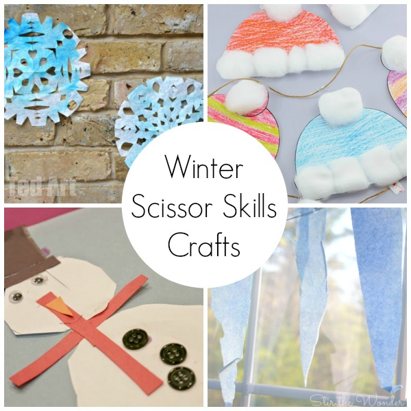 Kids will love practicing their fine motor skills with eight of the best winter themed scissor skills crafts from across the web!