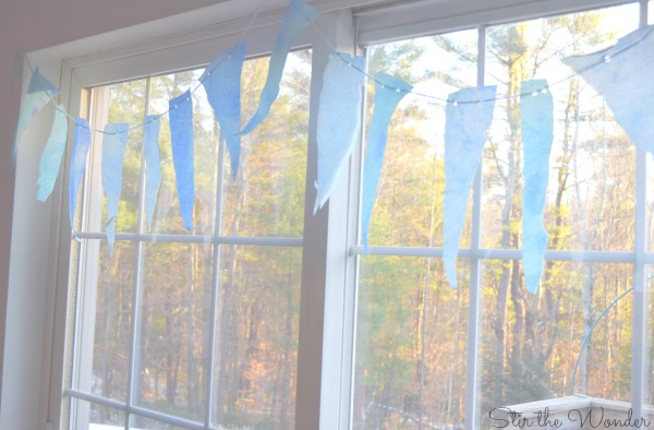 hanging icicle garland