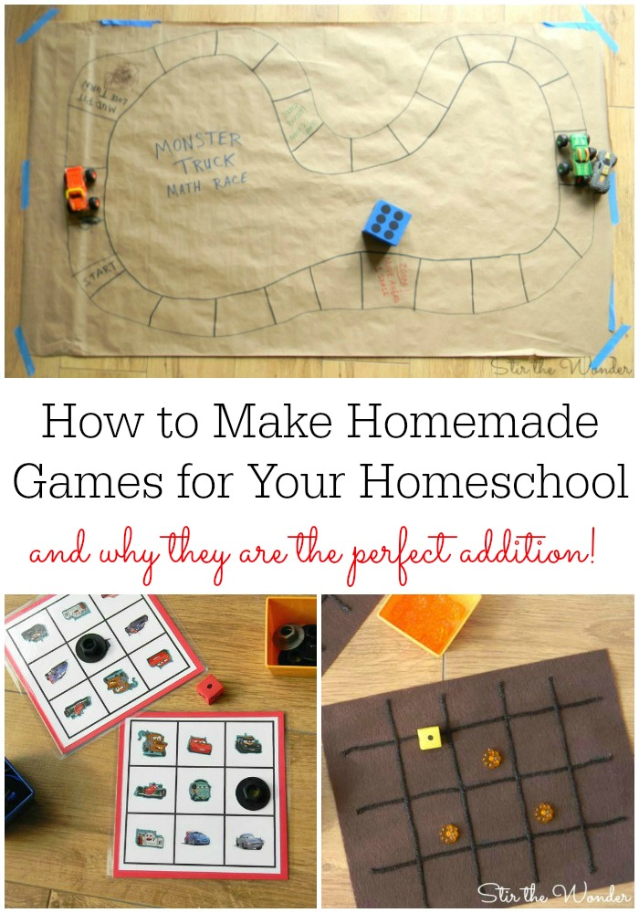 How to Make Homemade Games for your Homeschool