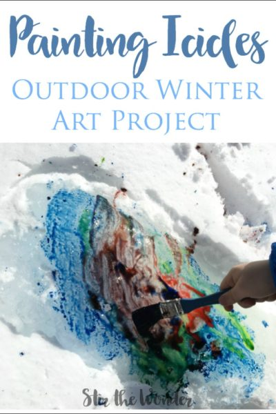 Painting Icicles is a Wonderful Winter Art Project Kids Love