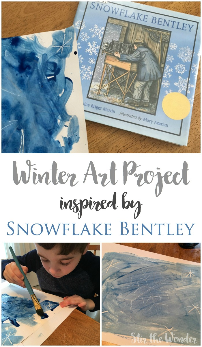 Read Snowflake Bentley and get inspired to create some unique snowflake artwork! This winter art project is easy and goes perfectly with this winter story.