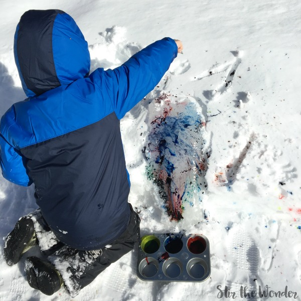 painting ice outside