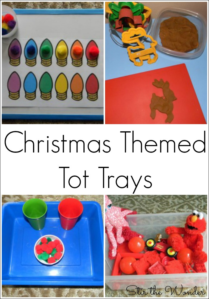 Christmas Themed Tot Trays