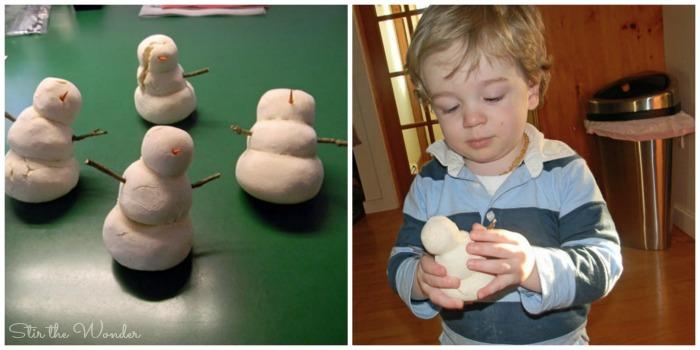 salt dough snowmen 5