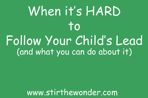 When it's HARD to Follow your Child's Lead