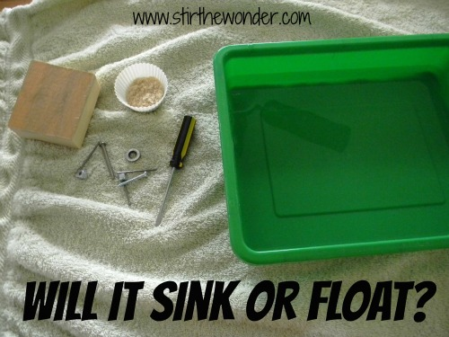 Science: Sink or Float Experiment