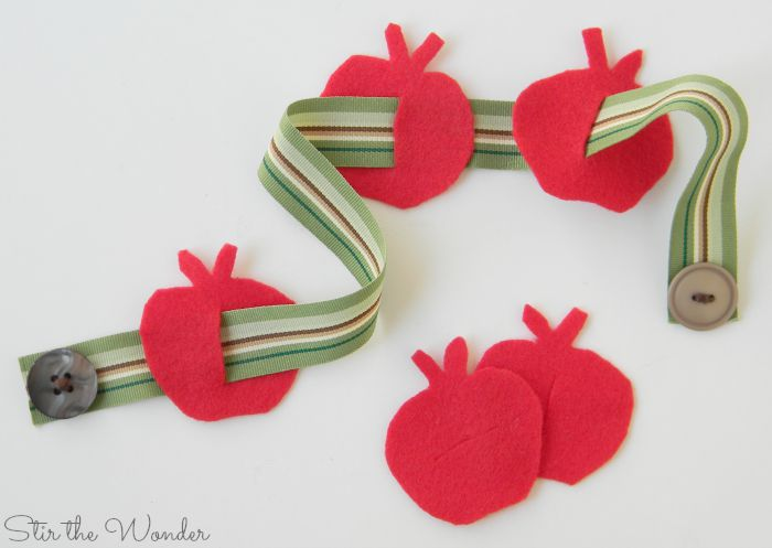 Button Worm and Apple Fine Motor Activity