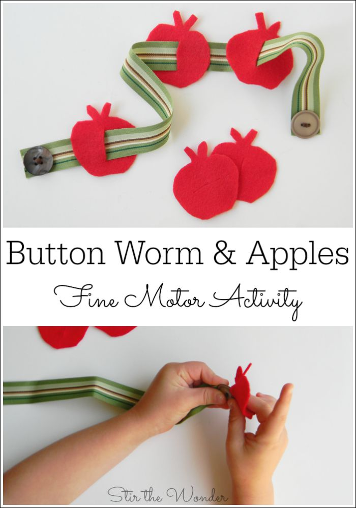 Button Worm & Apples