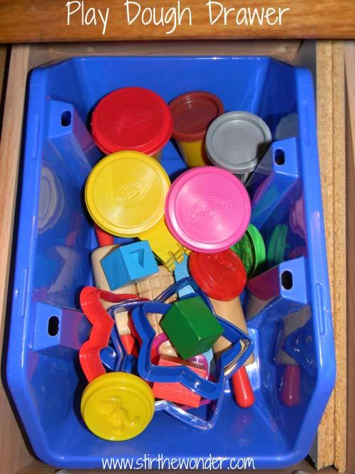 play dough drawer