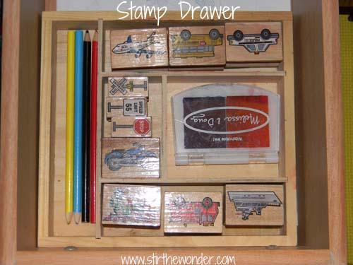 stamp drawer