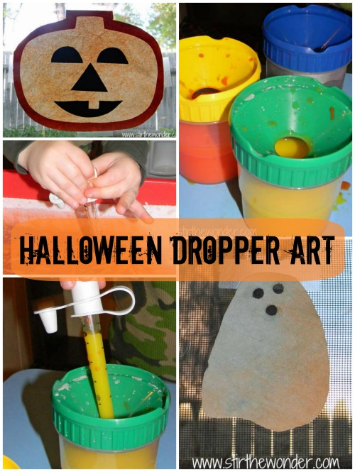 Halloween Dropper Art {Fine Motor Fridays}
