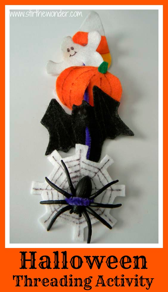 Halloween Threading Activity for Fine Motor Skills