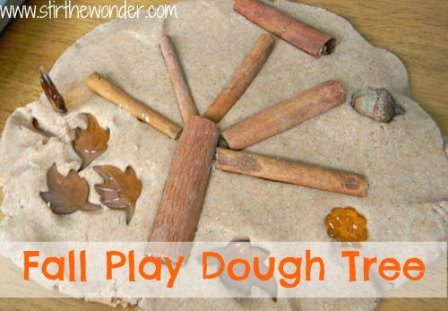Fall Play Dough Tree- Stir the Wonder