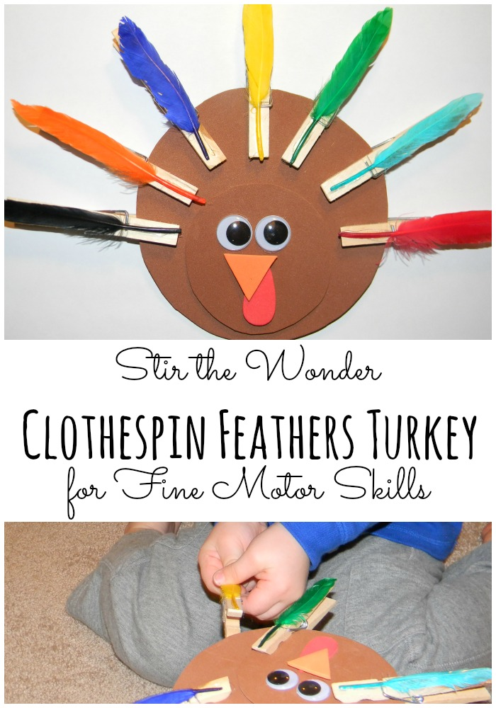 Clothespin Feathers Turkey