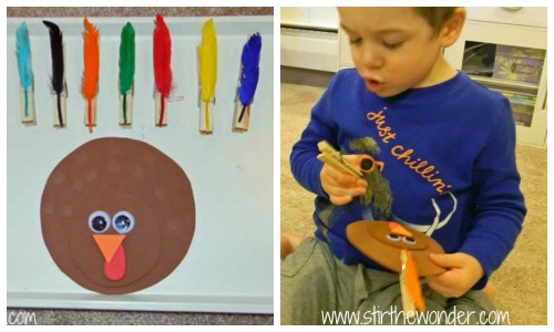 Clothespin Turkey Collage1