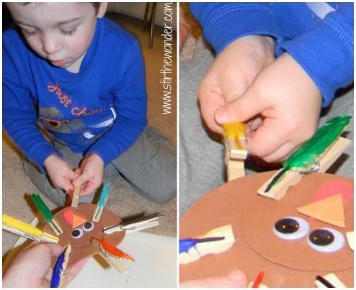 Clothespin Turkey Collage3