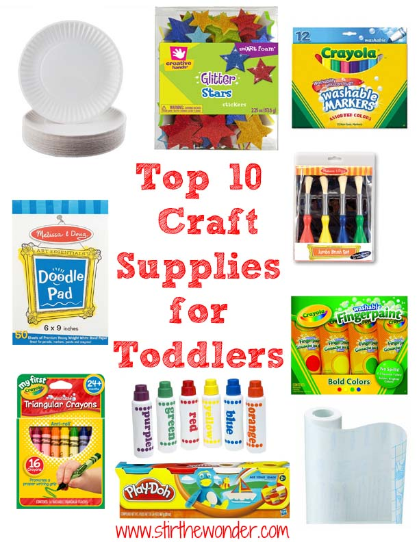 top 10 craft supplies for toddlers stir the wonder. Black Bedroom Furniture Sets. Home Design Ideas