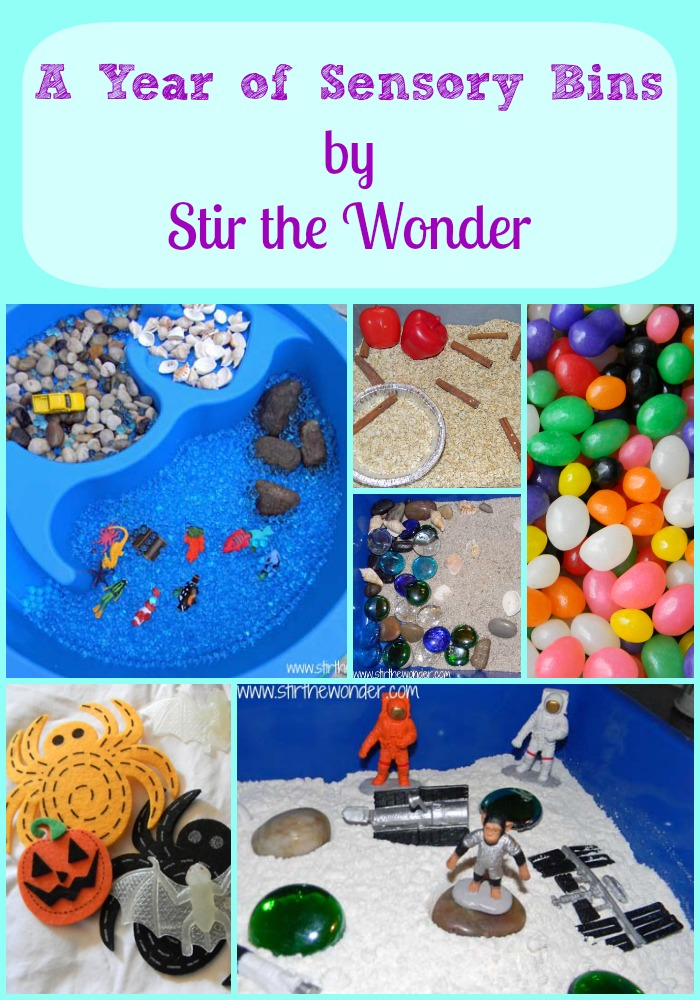 A Year of Sensory Bins | Stir the Wonder #kbn #sensory