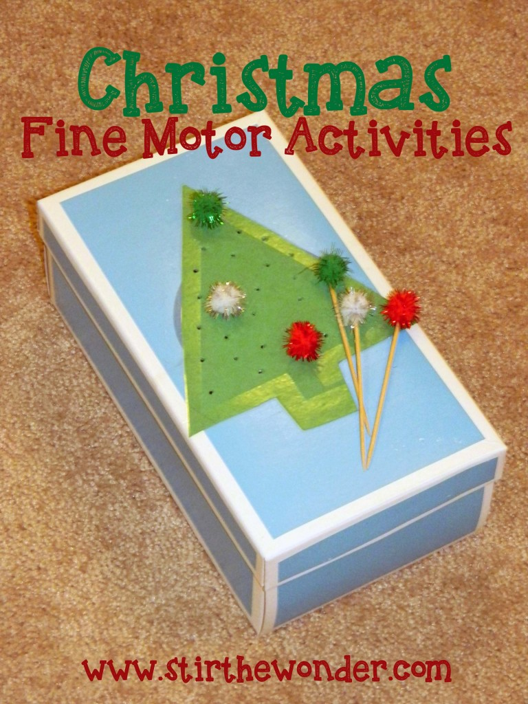 Christmas Fine Motor Activities | Stir the Wonder
