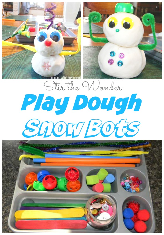 Play Dough Snow Bots