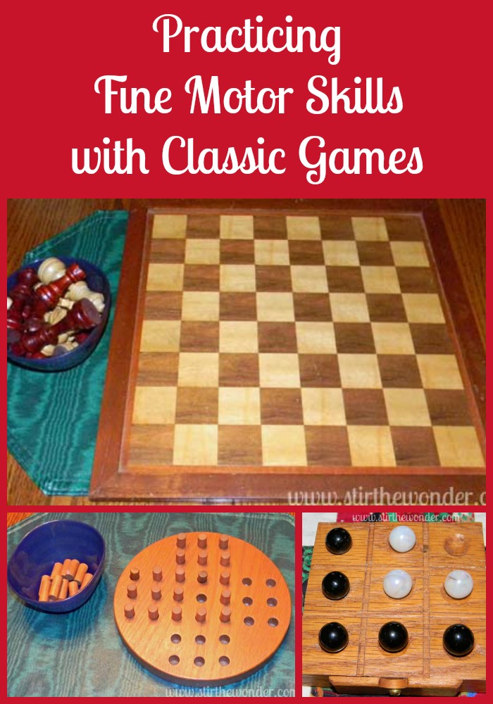 Practicing Fine Motor Skills with Classic Games {Fine Motor Fridays} | Stir the Wonder #kbn #finemotorfridays #finemotor #preschool