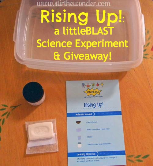 Rising Up!: a littleBLAST Science Experiment & Giveaway!