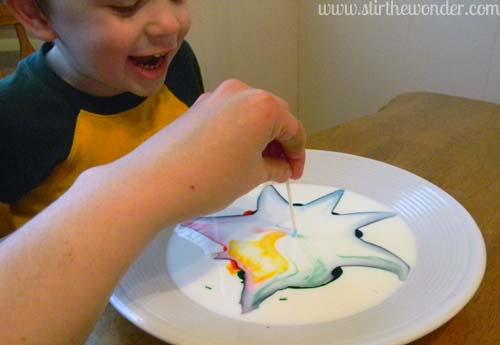 Milk Color Explosion: Take 2 {Saturday Science} | Stir the Wonder