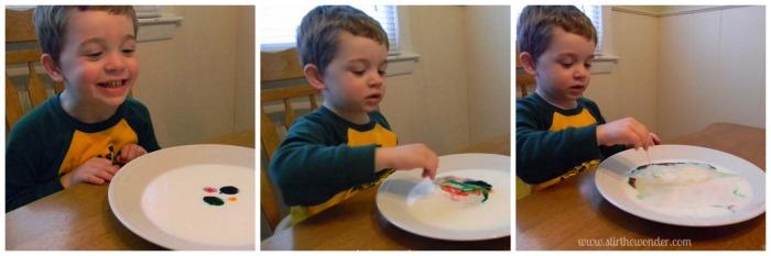 Milk Color Explosion: Take 1 {Saturday Science} | Stir the Wonder