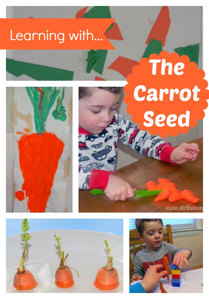 Hands-On Learning with The Carrot Seed | Stir the Wonder #handsonplay #bfiar #preschool