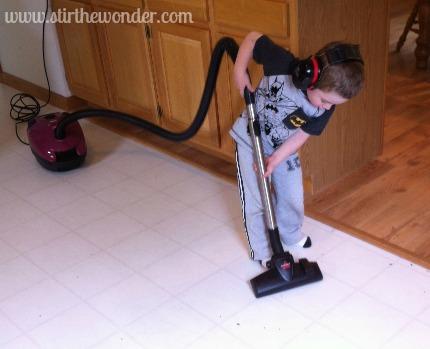 Caden vacuuming