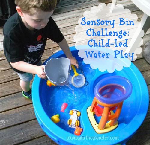 Sensory Bin Challenge: Child-led Water Play