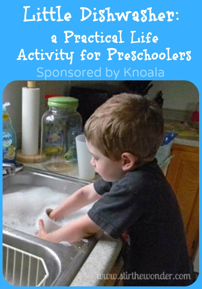Little Dishwasher: a Practical Life Activity for Preschoolers