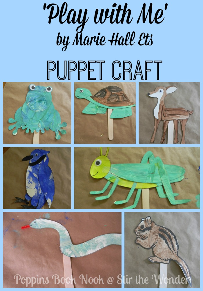 'Play with Me' Puppet Craft | Stir the Wonder #poppinsbooknook #kbn #bfiar