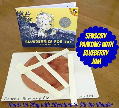 Sensory Painting with Blueberry Jam | Stir the Wonder #handsonplay #kbn #bfiar