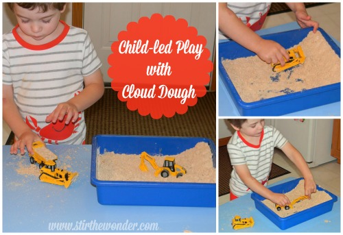 child led play cloud dough
