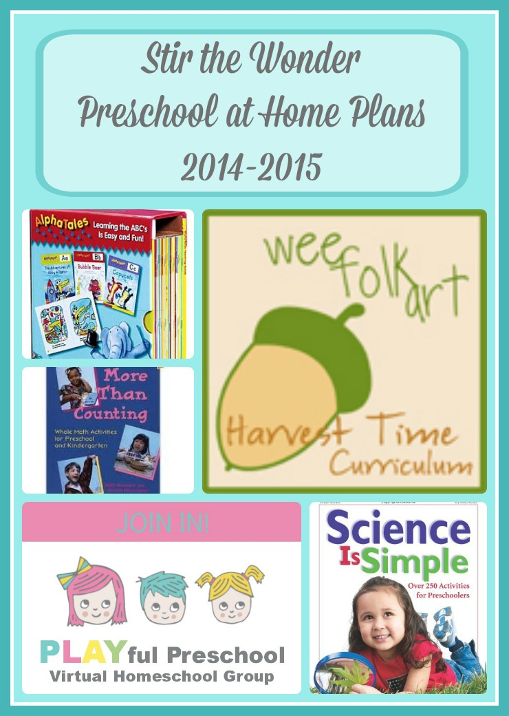 Our Preschool at Home Plans