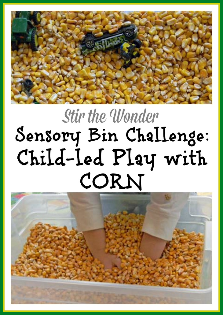 Child-led Sensory Play with Corn
