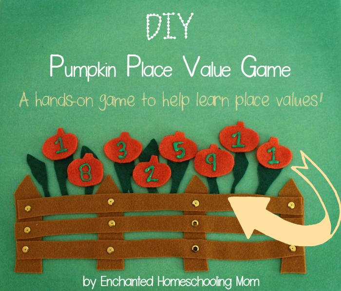 DIY Pumpkin Place Value Game