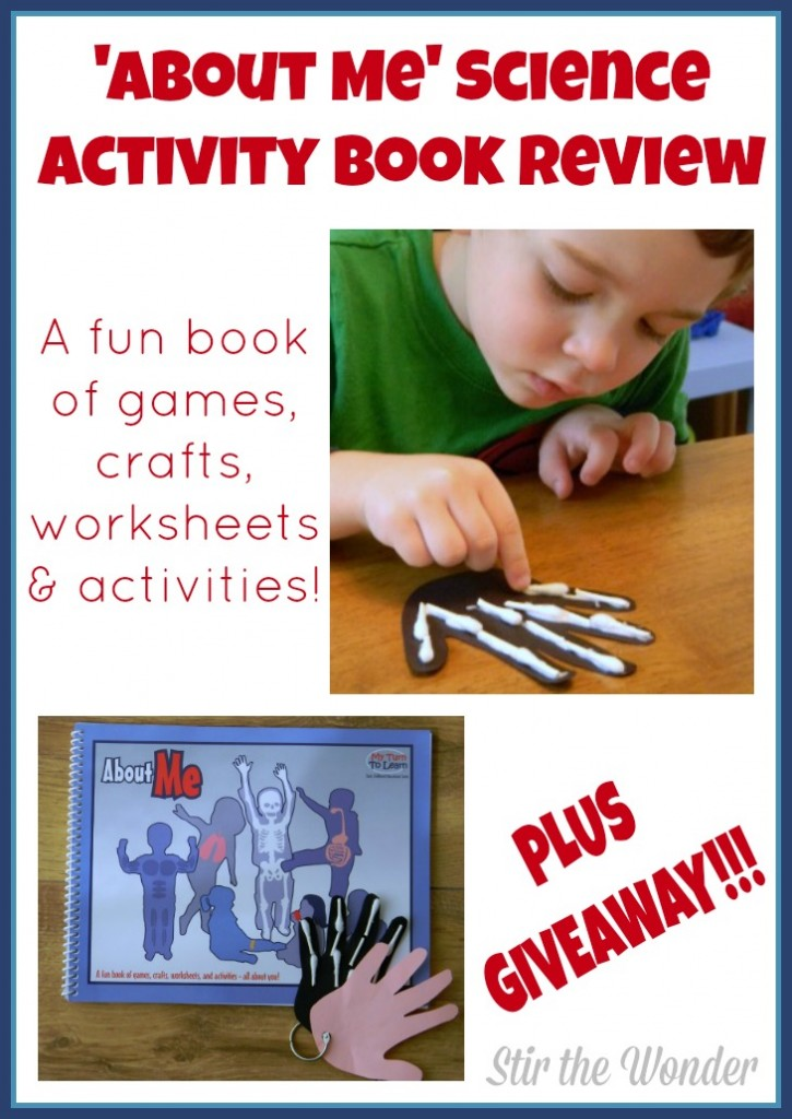 'About Me' Science Activity Book Review & Giveaway | Stir the Wonder
