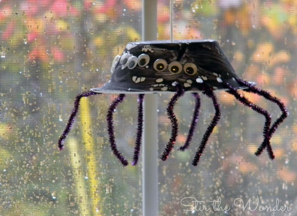 hanging spider craft