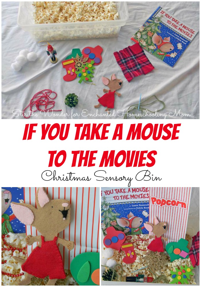 If You Take a Mouse to the Movies Sensory Bin