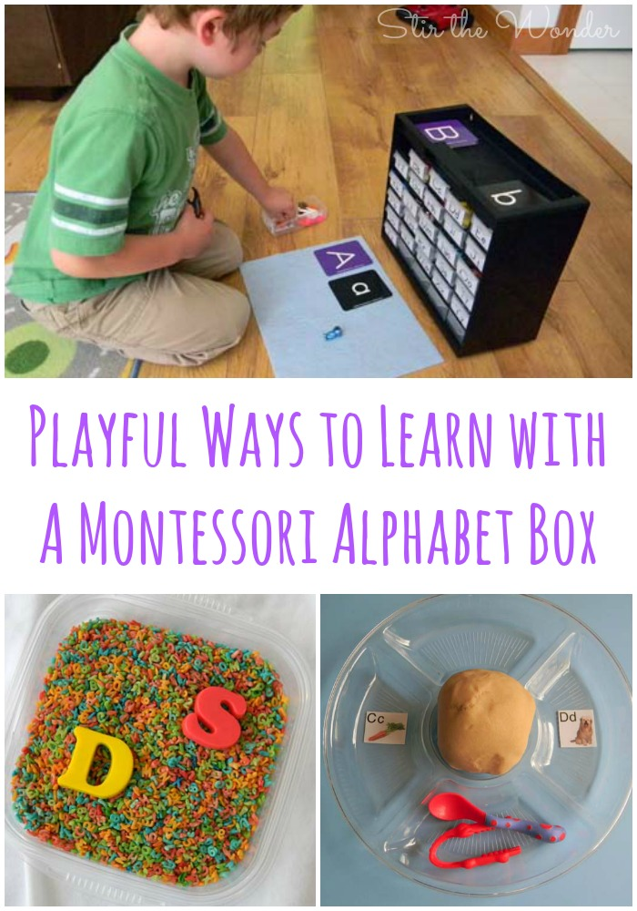Playful Ways to Learn with Montessori Alphabet Box | Stir the Wonder #kbn #preschool #handson
