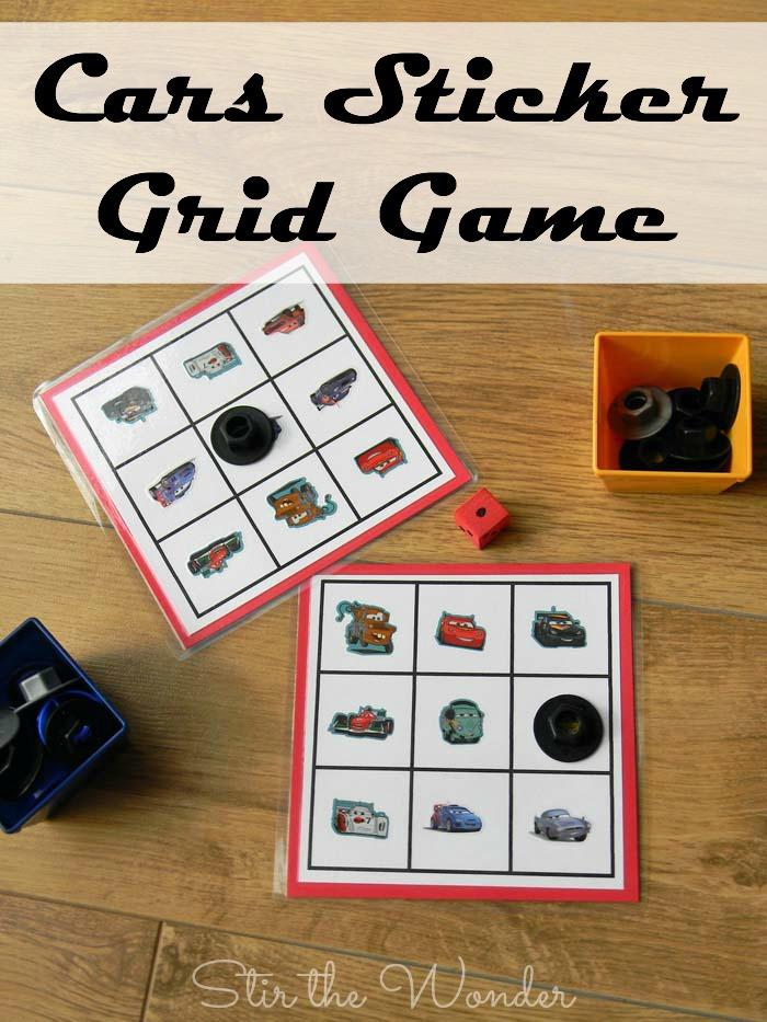 Cars Sticker Grid Game | Stir the Wonder