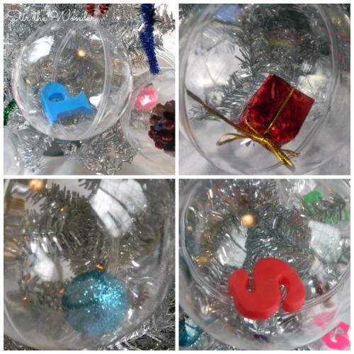 Christmas Alphabet Sounds Ornaments