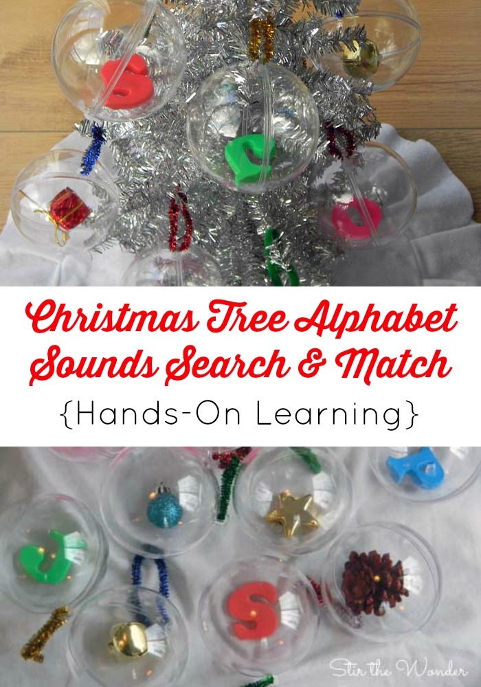 Christmas Tree Alphabet Sounds Search & Match