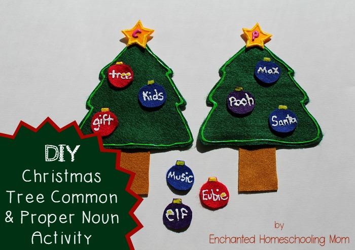 DIY Christmas Tree Common & Proper Noun Activity
